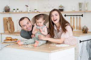Přirozené rodinné focení v boho ateliéru Praha